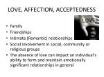 love affection acceptedness