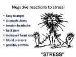 negative reactions to stress