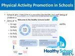 physical activity promotion in schools