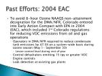 past efforts 2004 eac