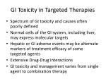 gi toxicity in targeted therapies