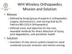 whi wireless orthopaedics mission and solution
