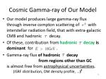 cosmic gamma ray of our model