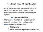 neutrino flux of our model