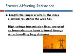 factors affecting resistance5