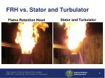 frh vs stator and turbulator