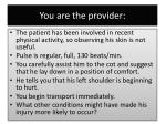 you are the provider1