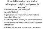 how did islam become such a widespread religion and powerful empire