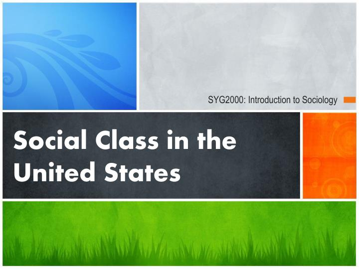 social class in the us and