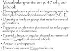 vocabulary write on p 47 of your inbook