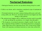 nocturnal emissions