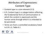attributes of expressions content type