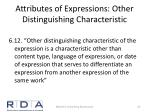 attributes of expressions other distinguishing characteristic