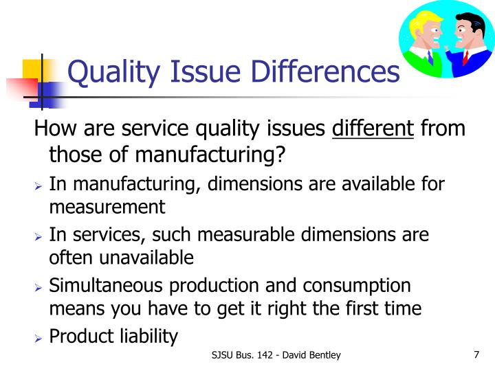 Quality Issue Differences
