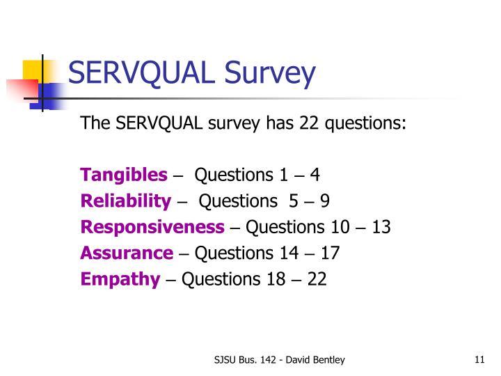 SERVQUAL Survey