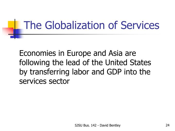 The Globalization of Services