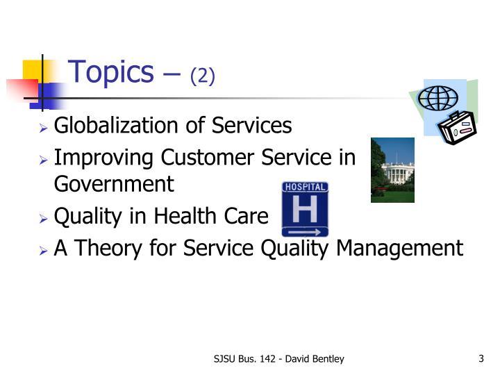 Topics 2