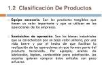 1 2 clasificaci n de productos8