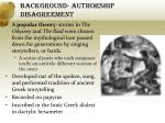 background authorship disagreement