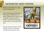 background brief synopsis