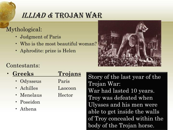 a question on the trojan war and the mythological aspects of it The greek myths: the trojan war through the odyssey quiz quizzes   create a quiz progress: « previous question next question.