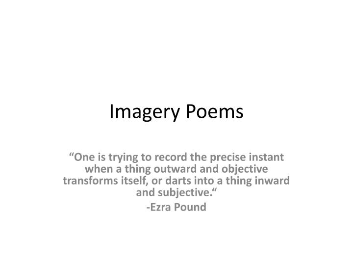imagery poems n.