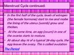 menstrual cycle continued