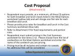 cost proposal attachment d