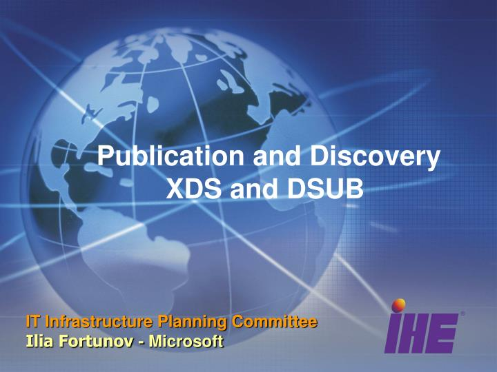 publication and discovery xds and dsub n.