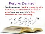resolve defined