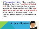 scriptural reminders