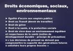 droits conomiques sociaux environnementaux