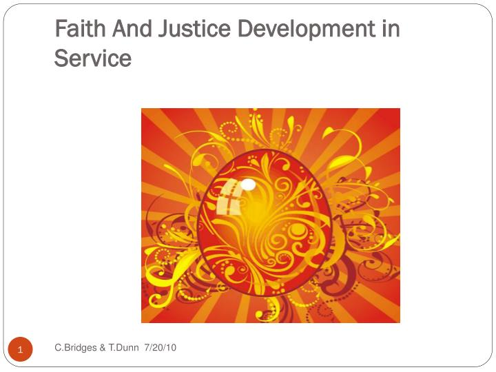 faith and justice development in service n.