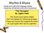 rhythm rhyme