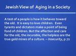 jewish view of aging in a society