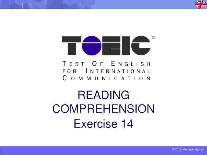 reading comprehension exercise 14 n.