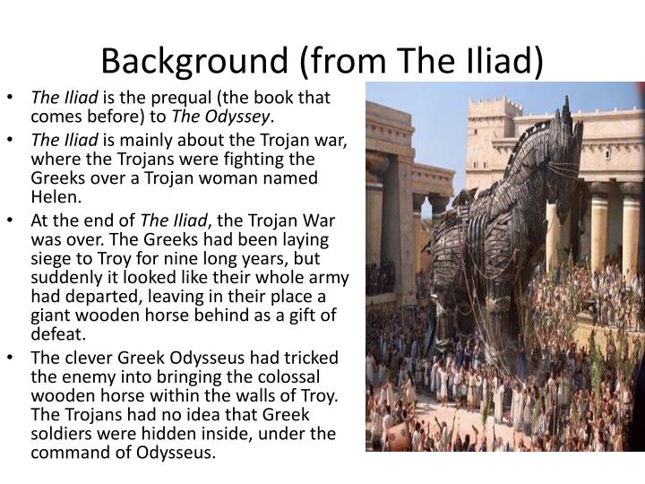 Background from the iliad