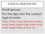 logical sequencing