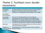 theme 3 facilitate cross border movements