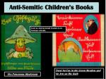 anti semitic children s books