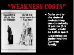 weakness costs