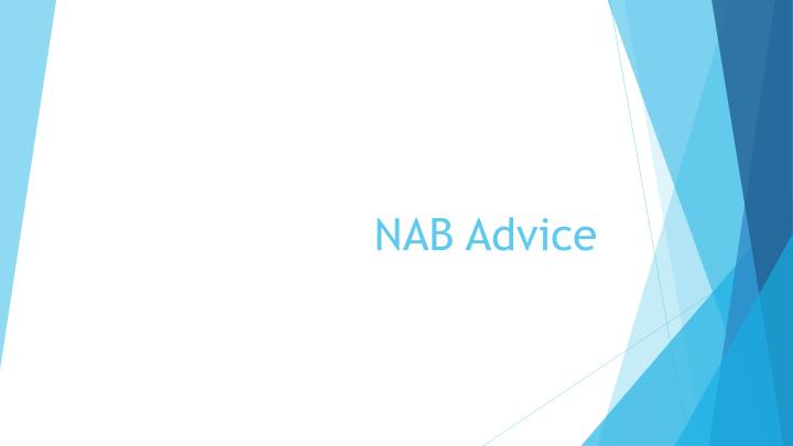 nab advice n.