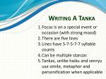 writing a tanka