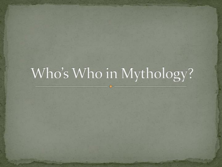 who s who in mythology n.