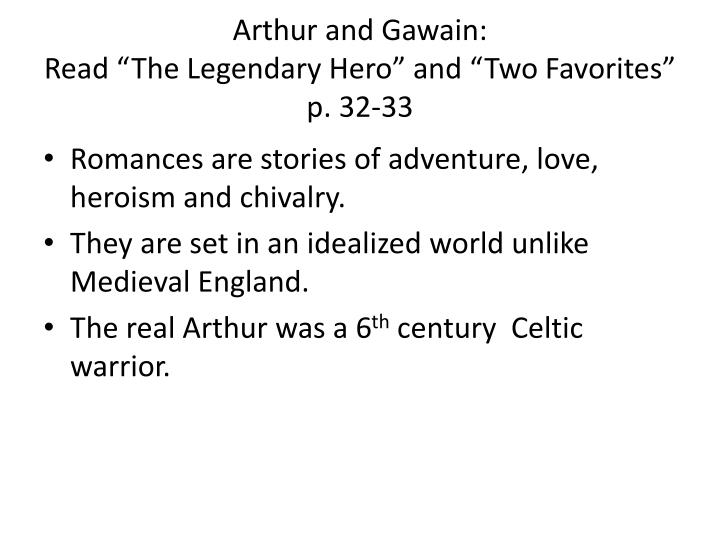 Arthur and Gawain: