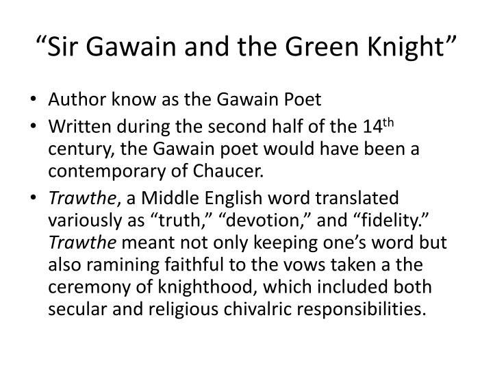 """""""Sir Gawain and the Green Knight"""""""