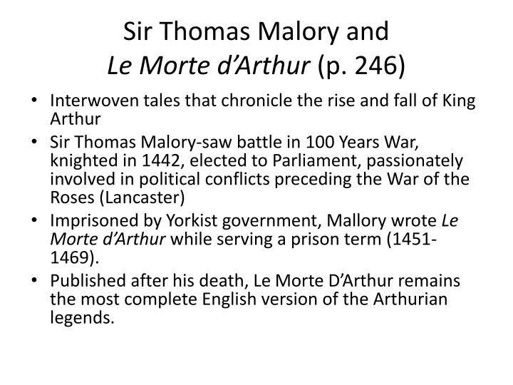 Sir Thomas Malory and