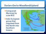 dorian doris woodland upland