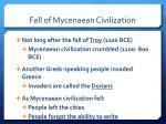 fall of mycenaean civilization