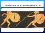 the iliad hector vs achilles book xxii